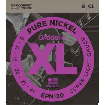 D´addario EPN120 Pure Nickel Super Light Cuerdas para Guitarra Eléctrica